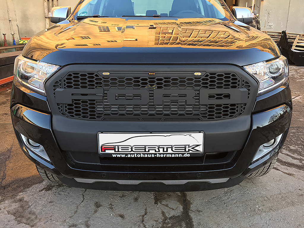 ford ranger raptor grill ab 2016 zubeh r fibertek. Black Bedroom Furniture Sets. Home Design Ideas